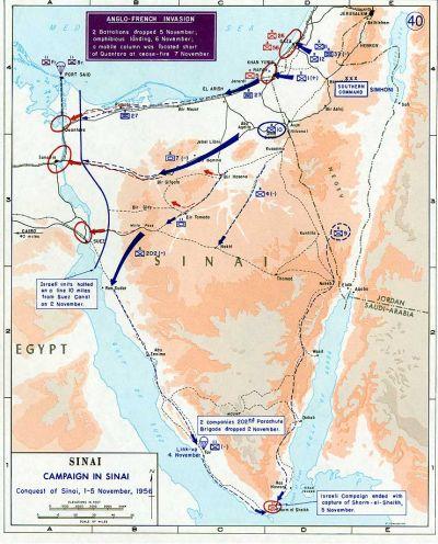1956. szuezi válság térkép képe